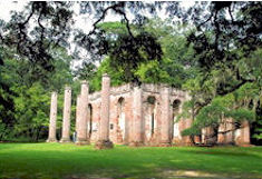 beaufort county sc old sheldon ruins