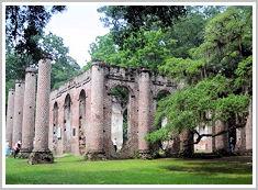 beaufort sc old sheldon church ruins